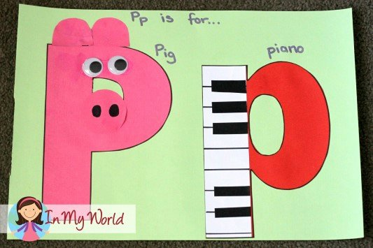 Letter P Preschool Worksheets Preschool Letter P In My World