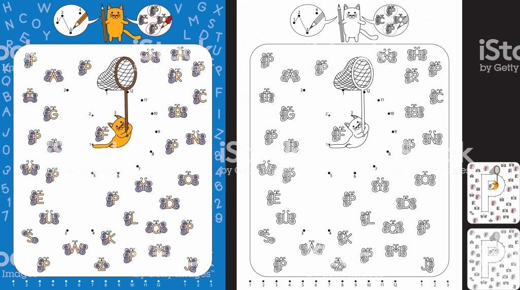 Letter P Preschool Worksheets Preschool Worksheet Stock Illustration Download Image now