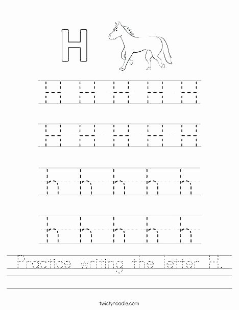 Letter P Worksheets for toddlers Free Printable Letter H Tracing Worksheets Letter H