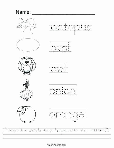 Letter P Worksheets for toddlers Letter O Worksheets for toddlers