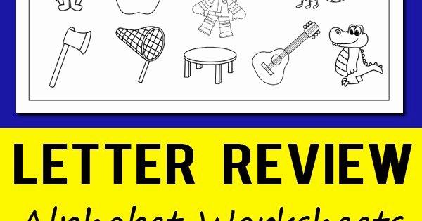 Letter P Worksheets for toddlers Letter Review Alphabet Worksheets