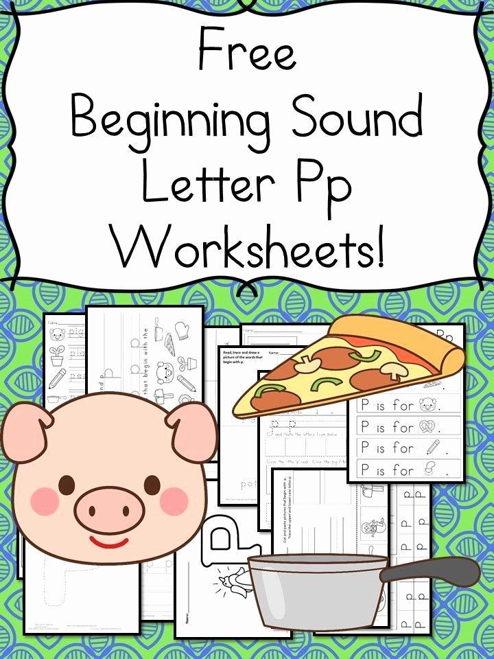 Letter Pp Worksheets 18 Free Letter P Beginning sound Worksheets Easy