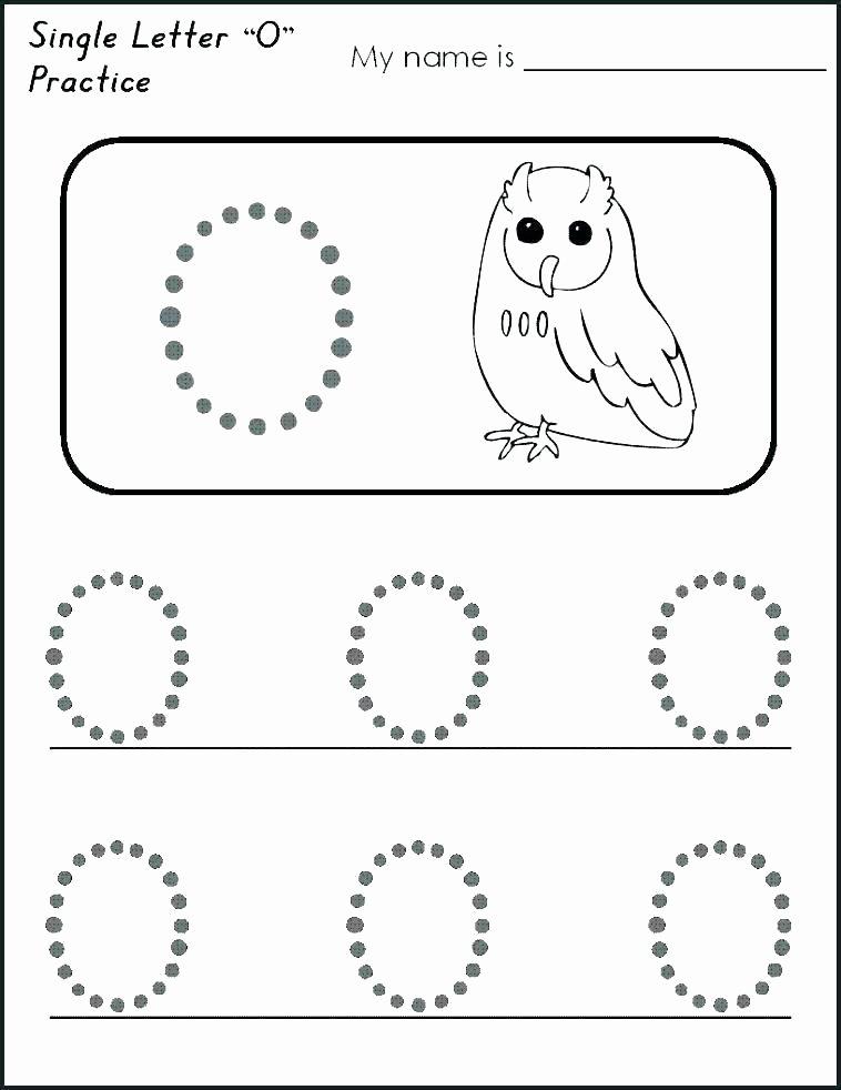 Letter Pp Worksheets Letter O Worksheets for toddlers