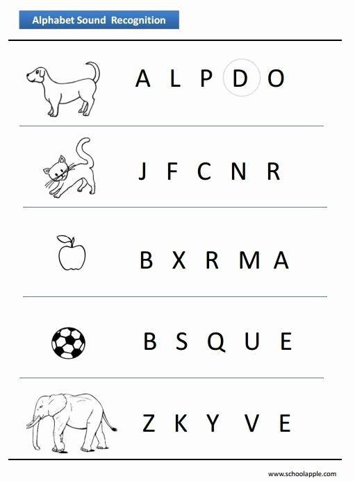 Letter Recognition Worksheets for Kindergarten Alphabet Recognition Worksheet
