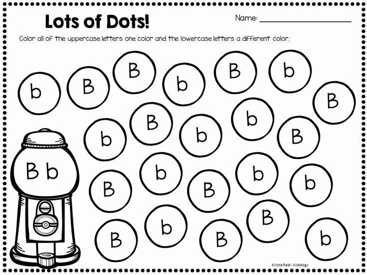 Letter Recognition Worksheets for Kindergarten Bingo Dauber Bubble Gum English Worksheets