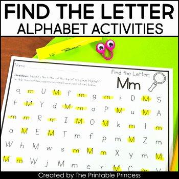 Letter Recognition Worksheets for Kindergarten Letter Recognition Worksheets