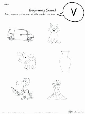 Letter sound Recognition Worksheets Beginning sounds Worksheets for Pre K Phonics Practice
