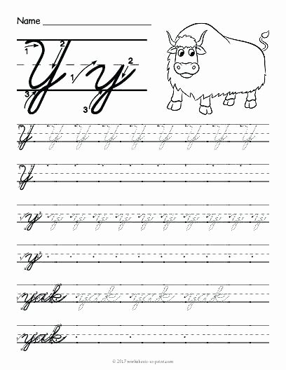 Letter sound Recognition Worksheets Free Printable Cursive Y Worksheet Writing Worksheets Letter