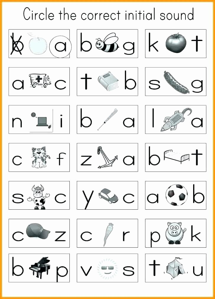 Letter sound Recognition Worksheets Kindergarten Letter Recognition Worksheets