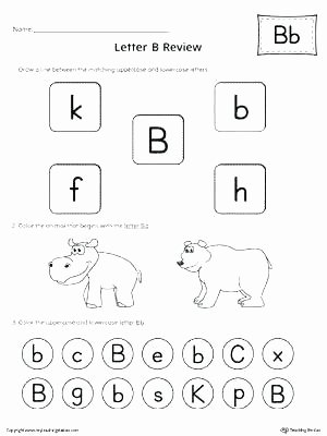 Letter sound Recognition Worksheets Letter sound Recognition Worksheets Pdf B Preschool Elegant
