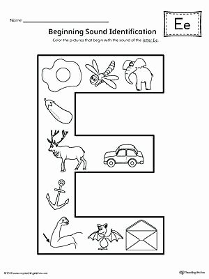 Letter sound Recognition Worksheets Practice Beginning Letter sound Worksheet Printable