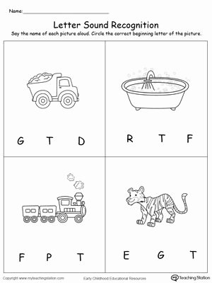 Letter sound Recognition Worksheets Recognize the sound Of the Letter T Worksheets