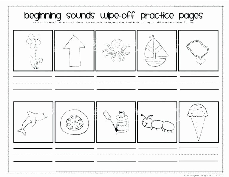 Letter sound Recognition Worksheets Say and Trace Letter M Beginning sound Words Worksheet Say