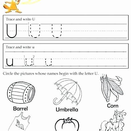 Letter U Worksheets for Kindergarten Letter U Worksheets