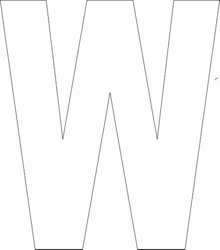 Letter W Worksheets for Preschoolers Free Printable Alphabet Template Upper Case