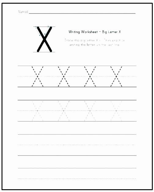 Letter X Worksheets for Kindergarten Letter M Worksheets for Preschoolers