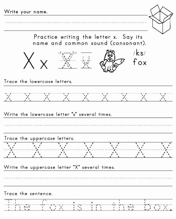 Letter X Worksheets for Kindergarten Letter X Worksheets for Kindergarten Alphabet Learning