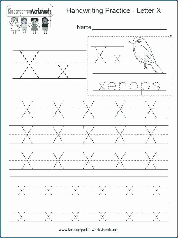 letter x worksheets kindergarten writing practice worksheet printable free h design workshe
