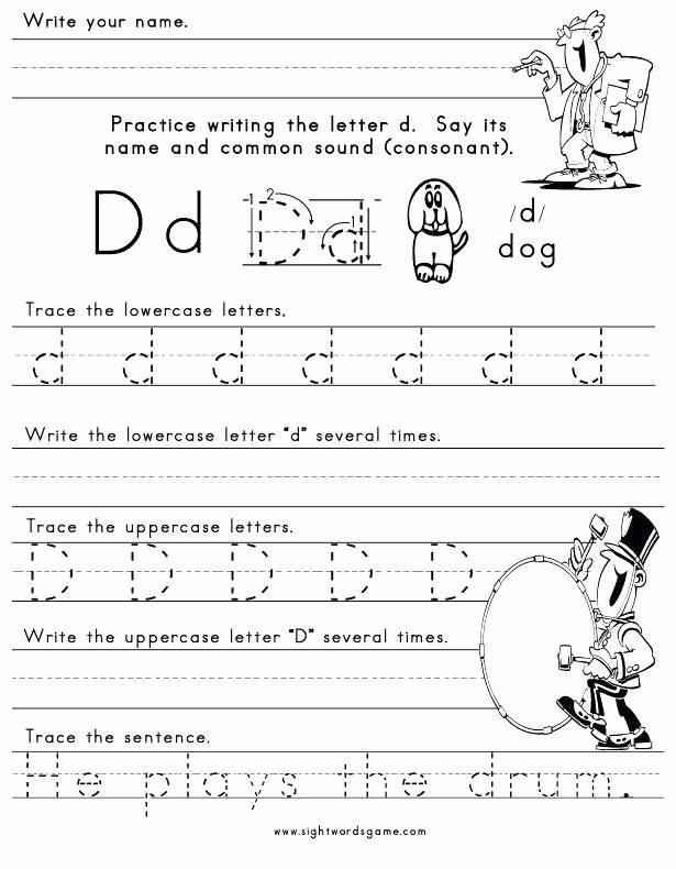 Letter X Worksheets for Preschool Letter D Printable Worksheets