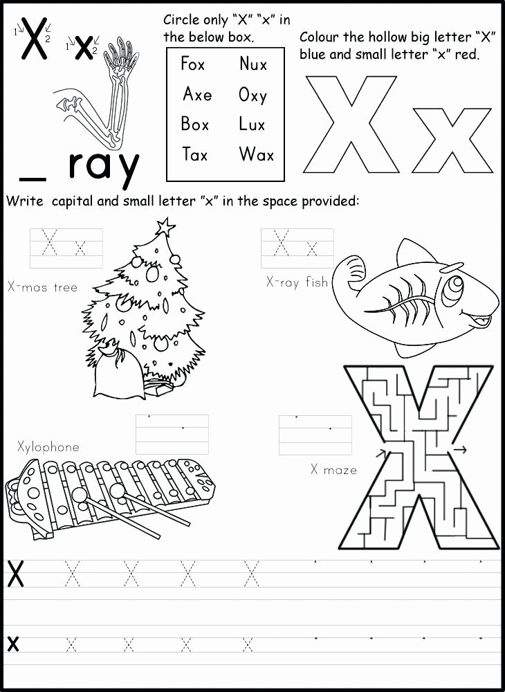 Letter X Worksheets for Preschool Letter X Worksheets for Preschool
