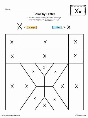 Letter X Worksheets for Preschool Uppercase Alphabet Worksheets