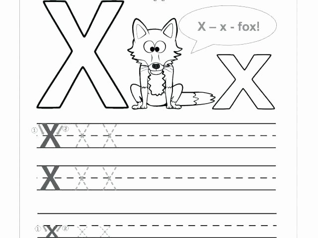 Letter X Worksheets Kindergarten Alphabet Letters Worksheets Simple Free Printable Tracing