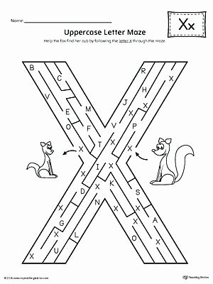 Letter X Worksheets Kindergarten Letter X Recognition Worksheet Worksheets for Kindergarten Pdf
