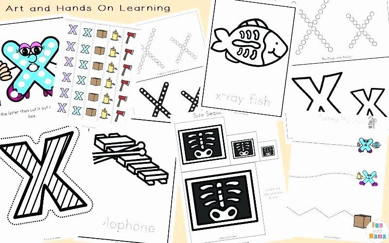 Letter X Worksheets Kindergarten Letter X Worksheets for Preschool