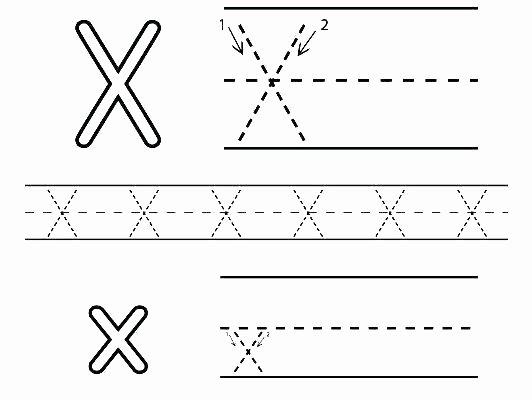 Letter X Worksheets Kindergarten Letter X Worksheets