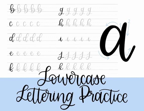 Lettering Practice Sheets Drafting Unique Lowercase Lettering Practice Sheets Printable Modern