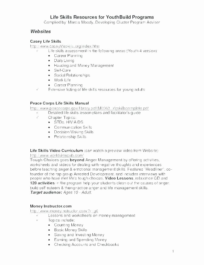 Life Skills Worksheets Free Munication Skills Worksheets for Kids Collection