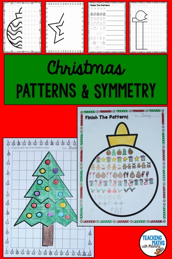 Line Pattern Worksheets Fresh Christmas Patterns and Symmetry Worksheets