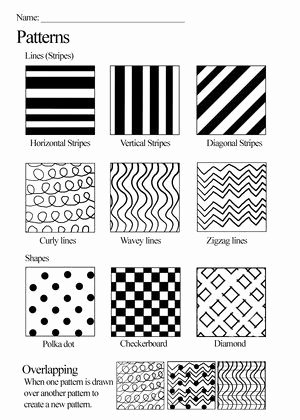 Line Pattern Worksheets Inspirational Texture Worksheet Google Search
