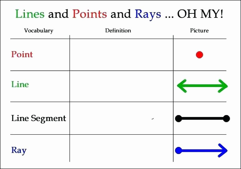 line vs segment free lines and segments worksheets point ray worksheet pdf definition rays angle se