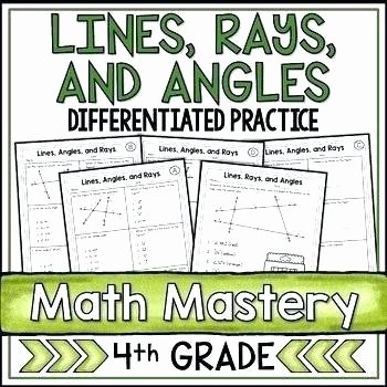 Lines Rays and Angles Worksheets Identify Lines and Angles Worksheets