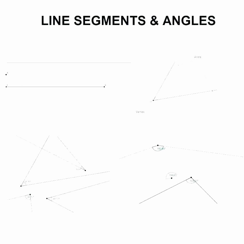 Lines Rays Line Segments Worksheets Line Segment Worksheets for 3rd Grade