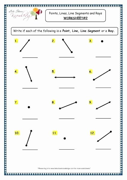 Lines Rays Line Segments Worksheets Line Segments Rays and Angles Reteach Worksheet Lines for