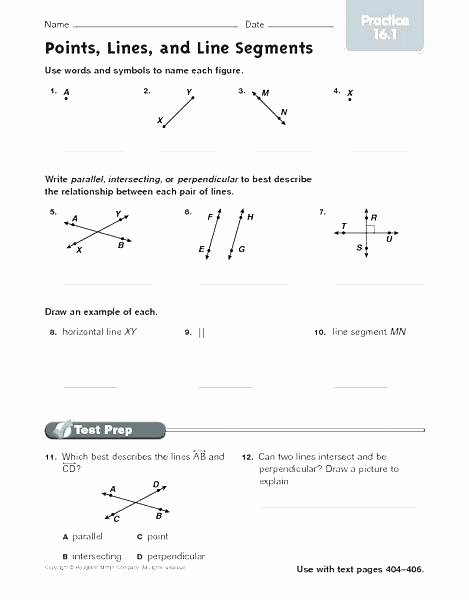 Lines Rays Line Segments Worksheets Lines Rays Line Segments Worksheets Lines Rays Line Segments