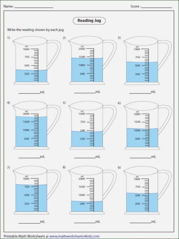 Liquid Volume Worksheets Volume Worksheet