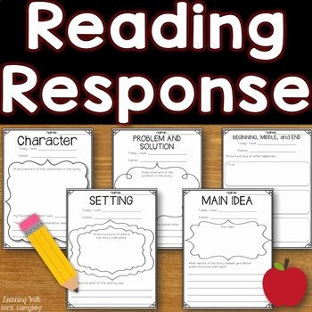 Listening Center Response Sheet Kindergarten Kindergarten Reading Response Worksheets & Teaching