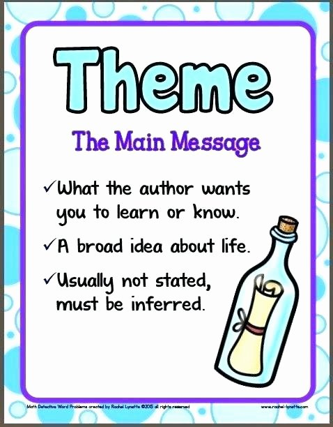 Literary Devices Worksheets Identifying theme In Literature Worksheets