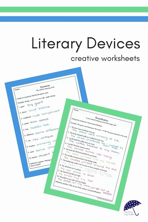 Literary Devices Worksheets List Of Pinterest Literary Devices Worksheet Pictures