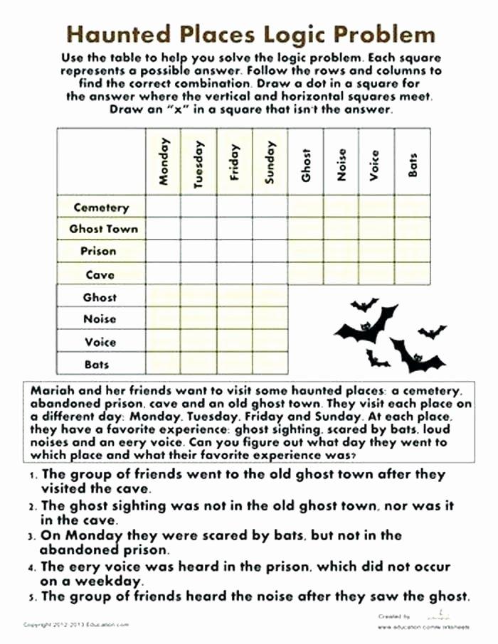 Logical Reasoning Worksheets Best Logic Puzzles Math Logic Puzzles High Logic