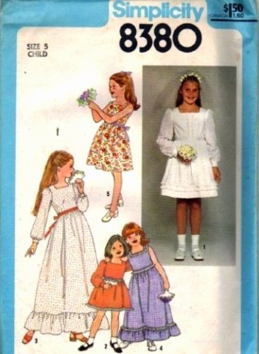 Long A Patterns Awesome Simplicity 8380 Girls Long Short Dress Vintage Sewing Pattern Size 5