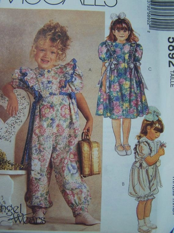 Long A Patterns Beautiful Mccall S 5892 Sewing Pattern Girl S Jumpsuit Long by
