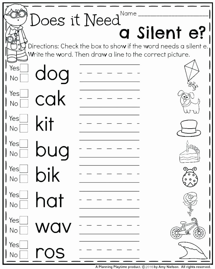 Long A Silent E Words Best Of Silent K Words Worksheets