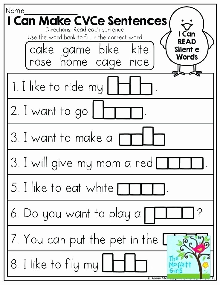 Long A Silent E Words New Silent E Worksheets for First Grade
