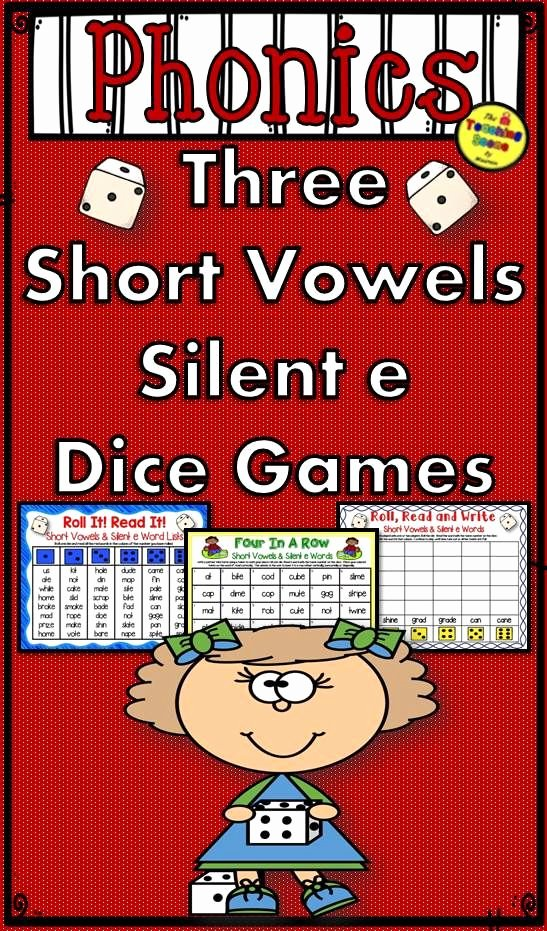 Long A Silent E Words Unique Three Phonics Mixed Short Vowels & Silent E sounds Dice