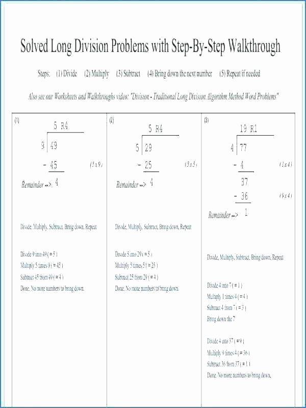 Long Division with Decimals Worksheets Division Of Decimals Worksheets Grade 5