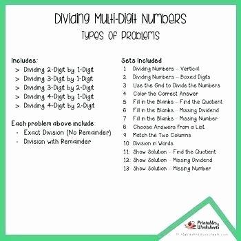 Long Division without Remainders Worksheet 4 Digit Division Worksheets 2 Digits Multi Grade Up Dividing